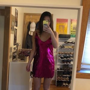 Free People Pink Sequin Dress